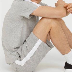 H&M Shorts - Grey Mens Sweat shorts -New